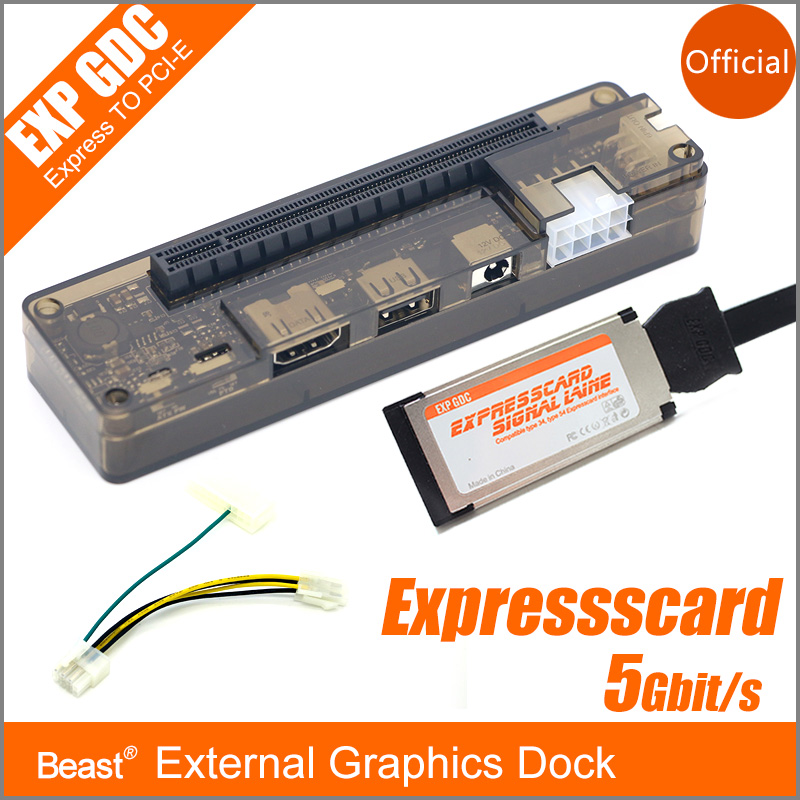 PCIe PCI-E EXP GDC External Laptop Independent Video Card Dock / Notebook Docking Station Express card interface Version vg 86m06 006 gpu for acer aspire 6530g notebook pc graphics card ati hd3650 video card