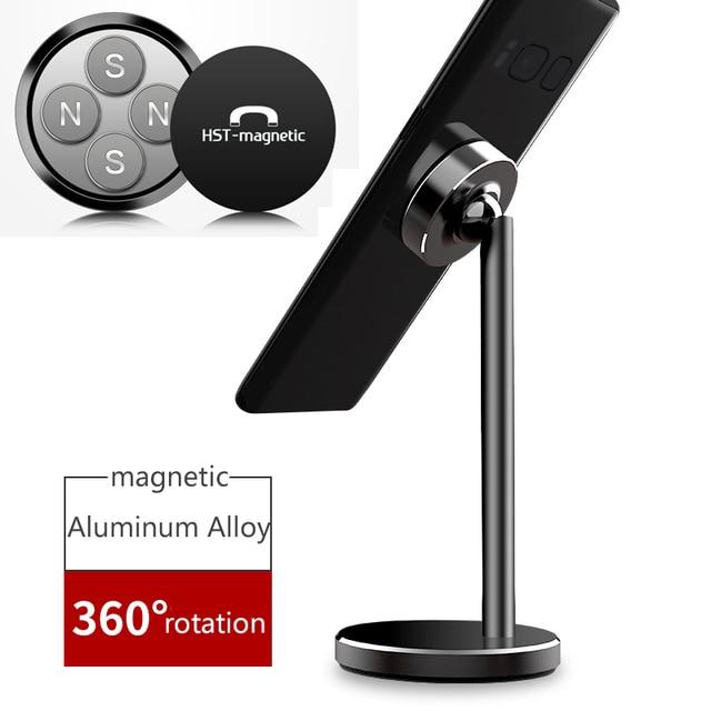 Магнитный Настольный держатель для мобильного телефона, подставка для телефона iPhone XS Max XR 6 6s 7 8 X Plus 5 5s 5c Xiaomi Redmi 6 Pro Huawei Mate 20