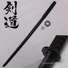 Sert Ahşap Kılıç Samuray Bushido Eğitim Katana Bokken Uygulama Kendo Sopa PU kılıf Kın Siyah 100 cm