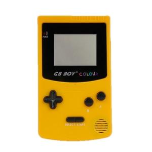 """Image 2 - GB ילד צבע צבע כף יד משחק נגן 2.7 """"נייד קלאסי משחק קונסולת קונסולות עם תאורה אחורית 66 משחקים מובנים"""