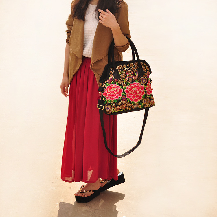 ФОТО Hot Shouler&Handbags!High-quality National Embroidered Bags Ethnic Embroidery one-Shoulder bags Messenger Small Clutch Handbags