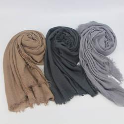 Для женщин Ислам Макси морщинка облако хиджаб шарф платок мусульманин длинный шаль, палантин, накидка