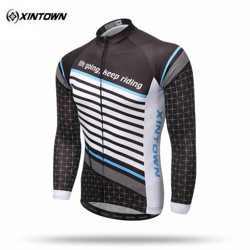 XINTOWN 2017 Team Long Sleeve Mens Outdoor Ropa Ciclismo Cycling Jersey Road Bike Riding Clothing Long Cycle Top S-XXXL