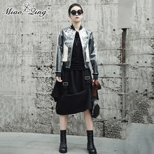 MIAOQING Autumn Women Fashion Clothes Long Sleeve Harajuku Transparent PVC Coats Jackets Casual Female Streetwear Befree Tops