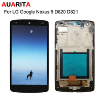 LCD For LG Google Nexus 5 D820 D821 LCD Display Touch panel Screen with frame Digitizer Assembly Replacement with tools nexus5
