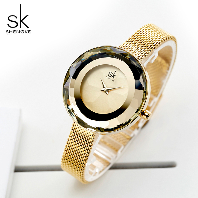 Shengke Роскошные для женщин Кристалл часы Известный бренд дамы кварцевые часы для Reloj Mujer 2019 SK для женщин часы Montre Femme
