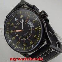Reloj para hombre con movimiento automático de 44mm  esfera negra  PVD  fecha  miyota 8215|watch men|watch men watch|watch watch -