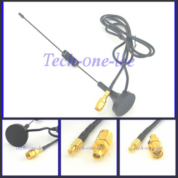 1090Mhz Antenna MCX Plug Connector 2.5dbi gains ADS-B Aerial with Magnet Base RG174 1M+MCX Female to SMA male Adapter Connector sma male plug to mcx male plug rf coaxial straight adapter connector convertor