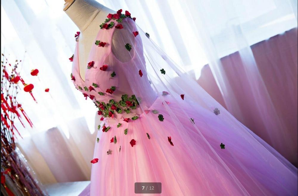 Lavanda Vestido De Fiesta vestido de bola de manga corta vestido de ...
