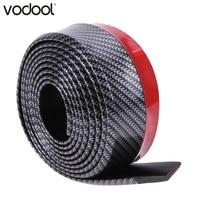 VODOOL 2,5 м * 5 см карбоновое волокно текстура резиновый автомобильный бампер полосы автомобиля внешние аксессуары передний бампер губы украше...