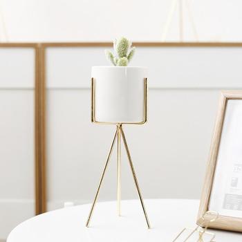 Vaso De Flores De Cerâmica Com Suporte Para Hidropônico Plantas Suculentas Vaso De Flor Para Casa Jardim Decoração Do Casamento