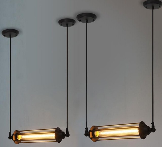 Vintage American Style Loft Pendant Light Steampunk Industrial Metal ...