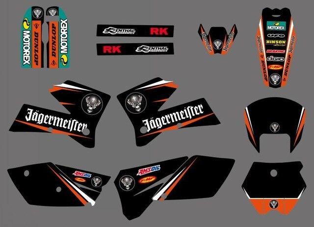 Adesivo decalque Da Motocicleta para KTM SX 125 250 380 400 520 2005 2006 Gráficos Bakcgrounds Adesivos Acessórios New deisgn quente venda