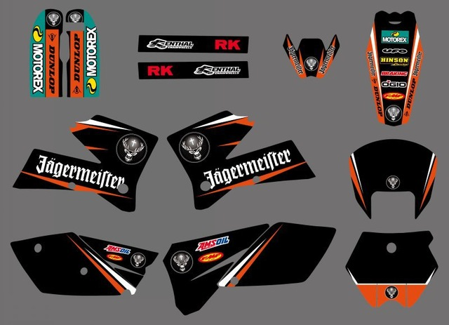 Decal Sticker Motorcycle for KTM SX 125 250 380 400 520 2005 2006 Graphics Bakcgrounds Stickers Accessories New deisgn hot saleDecal Sticker Motorcycle for KTM SX 125 250 380 400 520 2005 2006 Graphics Bakcgrounds Stickers Accessories New deisgn hot sale