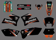 Decal Sticker Motorcycle for KTM SX 125 250 380 400 520 2005 2006 Graphics Bakcgrounds Stickers Accessories New deisgn hot sale new style motorcycle graphics