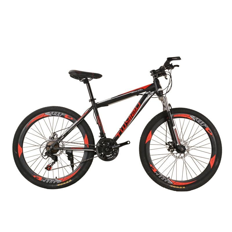 AOXIN 26 pouces 24 vitesses bmx VTT en acier à haute teneur en carbone frein à disque choc adulte vtt vélo