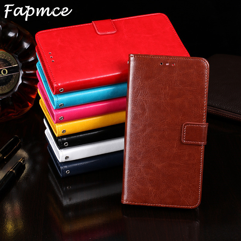 For Doogee X5 Max/X5 Max Pro Book Stand Case for Doogee X5 Max Phone Bag Shell Crazy Horse Wallet Flip PU Leather Cases Cover