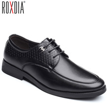 Buy ROXDIA brand plus size 39-48 men dress flats PU leather pointed toe formal wedding shoes men's oxford business flats RXM117 directly from merchant!