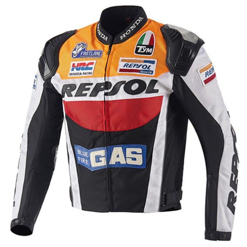 где купить  Duhan Oxford cloth motorcycle jacket Motocross Off-road Racing Jacket Men Rider Clothes with five pcs Protector gurds  по лучшей цене
