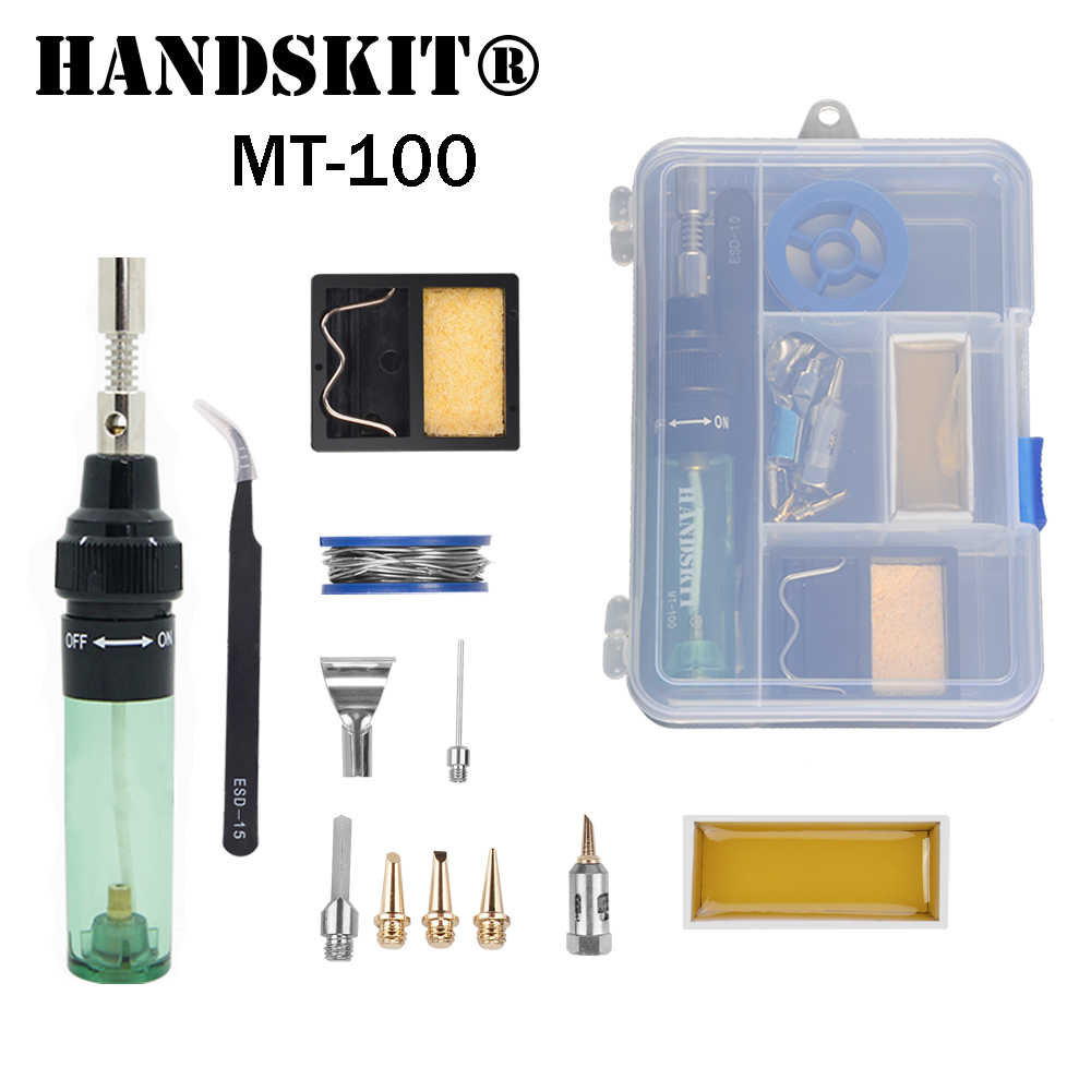 MT-100 Gas Soldering Iron Electric Solder Gun Blow Torch wireless outdoor  Cordless DIY Butane
