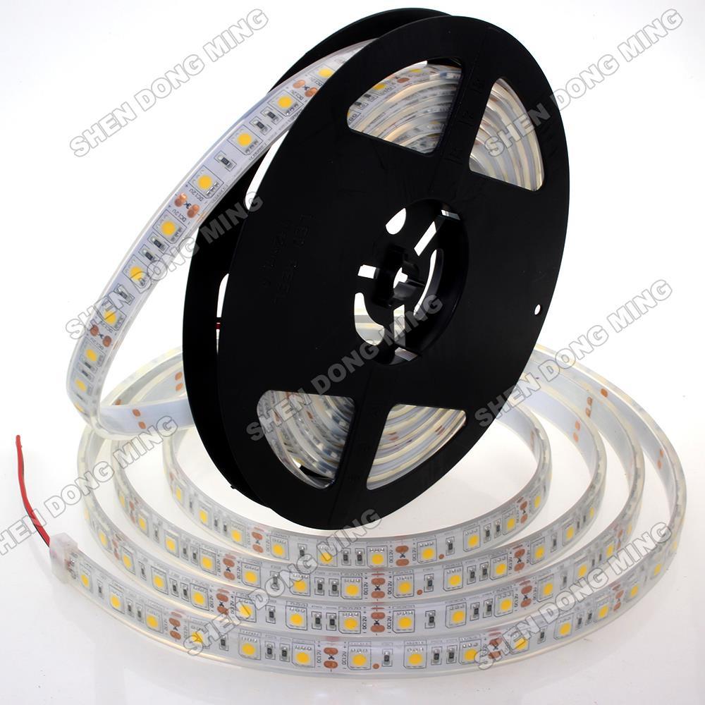 Injection Waterproof IP68 LED Strip 5050 12V 10m 300leds/5M RGB/White Flexible Light led tape ribbon swimming pool aquarium pond