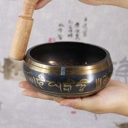 Tybetańska miska misa dźwiękowa dekoracyjna naczynia ścienne rzemiosło dekoracyjne dekoracyjne naczynia ścienne tybetańska misa dźwiękowa w Miski i talerze od Dom i ogród na