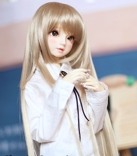 New! Doll Wigs Three Knife Flat High Temperature Silk Long Hair Available For 1/4 1/3 BJD SD DD Doll Accessories