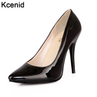 Plus Size 30 48 PU Leather Women Pumps New Fashion Sexy Pointed Toe Shallow Mouth Shoes