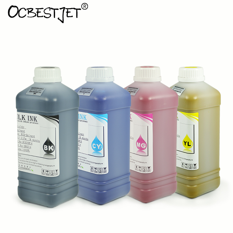 1000ML 4 Colors/Set Eco Solvent Ink For Mutoh Valuejet VJ 1204 1304 1324 1604 1624 1618 1638 2606 Printer Ultra Ink hot sale inkjet printer machine 50meter 4 line 5mm 3mm solvent ink tube for infiniti pheaton sid roland mimaki mutoh