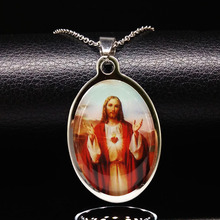 2019 Catholic Religious Jesus Stainless Steel Necklaces Jewelry Jesus Necklace for Men or Women colar gargantilha N69214B