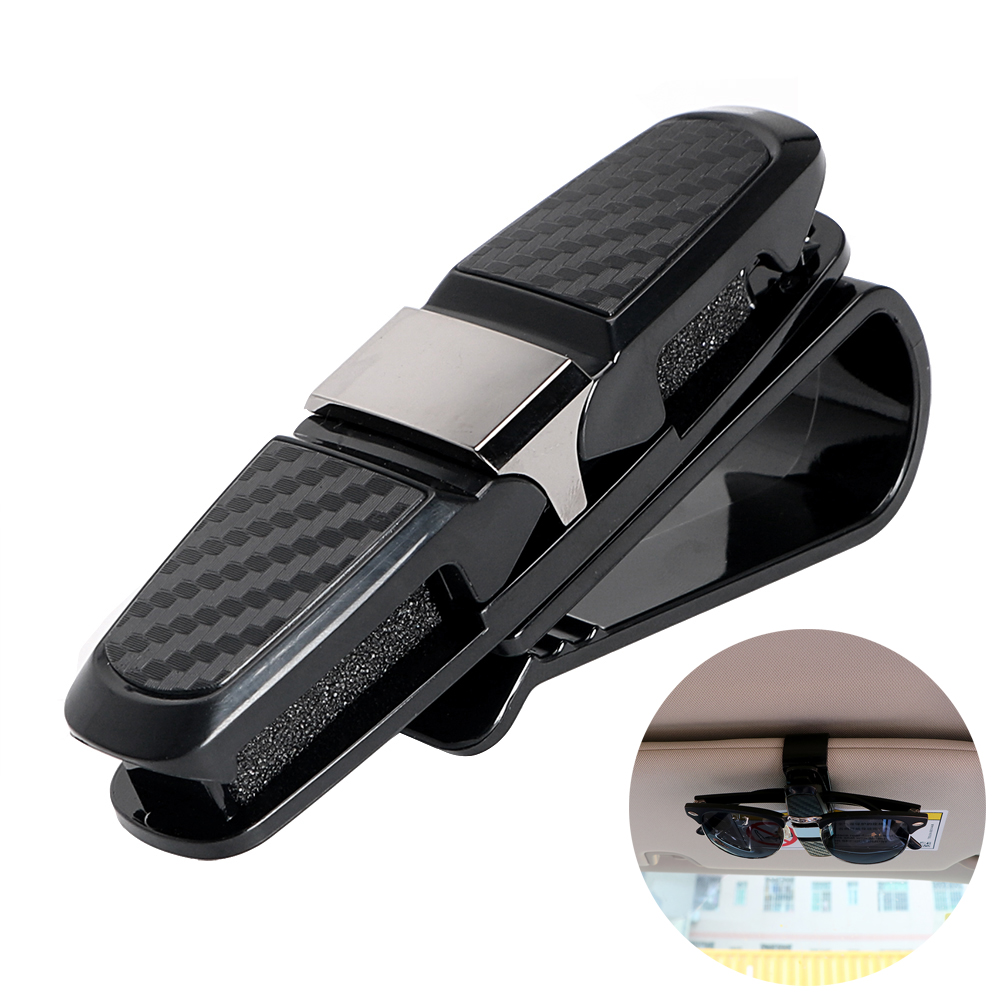 Clip Sunglasses-Holder Car-Sun-Visor Portable Cases Card-Clamp Ticket ABS Black Fastener