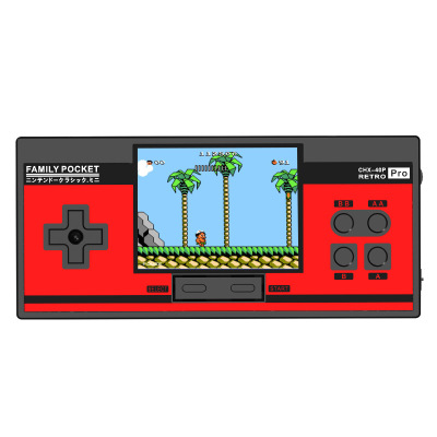 2019 Family Pocket Game Console Retro Portable Mini Handheld Game Player Built-in 348 Classic Games 3.0 Inch Color LCD For NES G