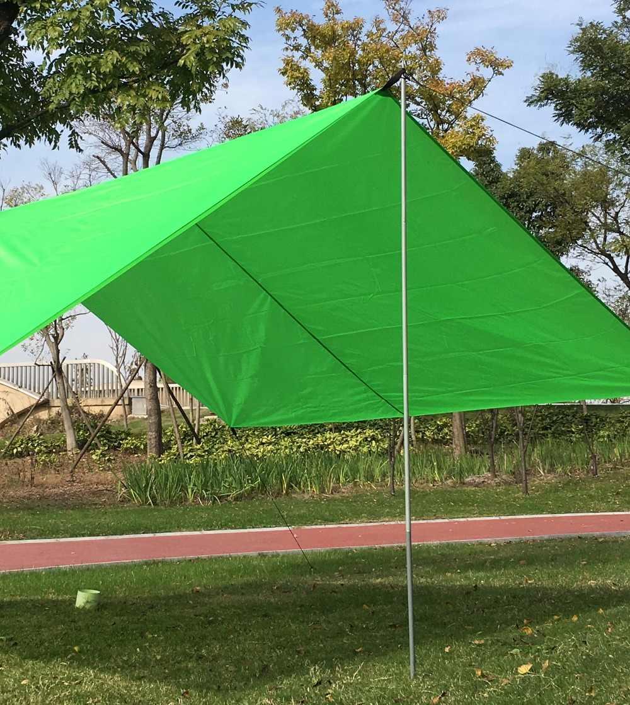 2x Tent Poles Universal Telescopic Adjustable Steel Awning Tent Canopy Tarp Pole