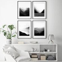 Современная Природа стены искусства туманные горы Холст Картина