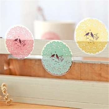 F017 stationery sticker 10 into round lace style sticker seal affixed to DIY adorable Office supplies for student supplies image