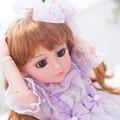 18 дюймов Ручной Работы Полный Винил Американская Девушка Кукла Reborn Baby Toys Дети Подарок На День Рождения День святого валентина Куклы Блондинка