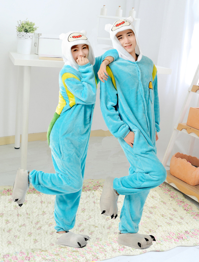 New Adult Adventure Time With Finn And Jake Season 2 onesies costume Women Men animal pajamas cosplay pyjama party halloween
