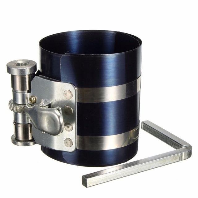 "3"" Car Engine Piston Ring Compressor Tool Installer Band Ratcheting 53-125mm"