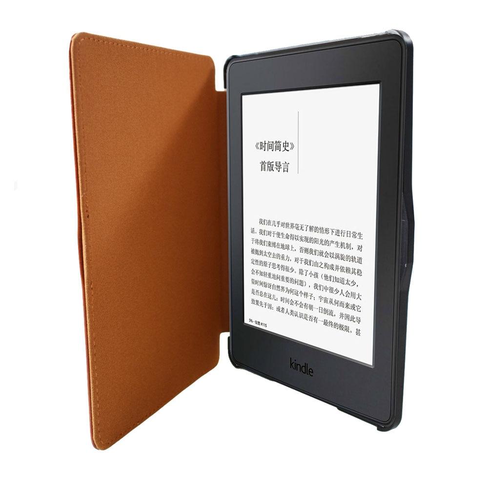 Para kindle paperwhite funda de cuero elegante cubierta de libro de - Accesorios para tablets - foto 5