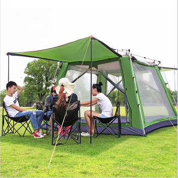 300*300*230cm Large Camping Tents Single Layer Outdoor 5-8 Person Quick Automatic Tent Camping Hiking Tents Waterproof otomatik çadır