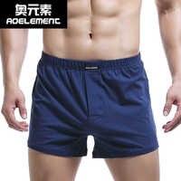 Boxer Homme coton sous-vêtements hommes malles tissé Homme flèche culotte Boxer avec ceinture élastique Shorts lâche hommes