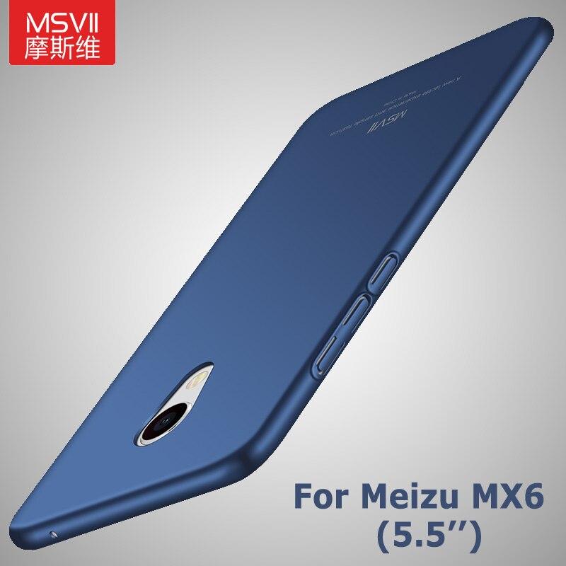 Meizu Mx6 Case Cover Msvii Brand Luxury Slim Scrub Cover Meizu Mx 6 Pro Cover Meizu Pro6 Hard PC Cover For Meizu Pro 6 6s Case