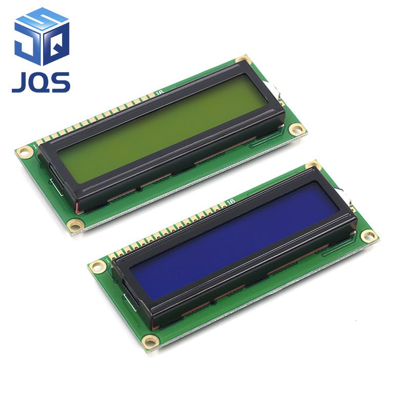 LCD1602 1602 Module Blue Green Screen 16x2 Character LCD Display Module HD44780 Controller Blue Black Light