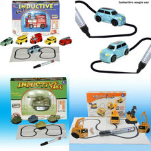 140Pcs/lot Magic Pen Inductive Car Truck Tank Children's Car Toy with Retail Box Fangle Toy DHL Free Shipping