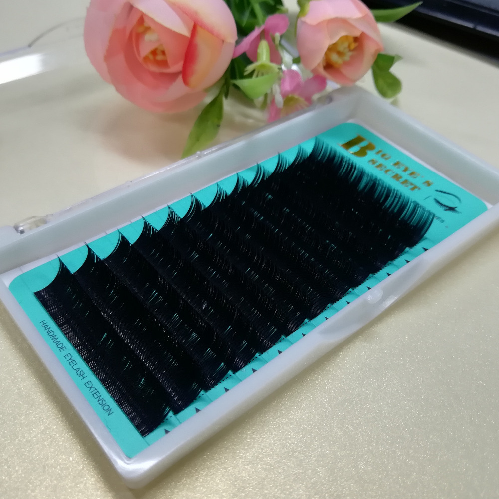 C D L CURL Silk Eyelash Extension Nutural Long Individual Lashes 100% Hand Made False Eyelashes