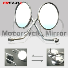 Motorcycle Rearview Mirrors 8/10mm Retro Stainless Steel Side Mirror For DUCATI MONSTER 696 796 796 848 Monster400/600/900/1100 new stripe rearview side mirrors stripe rearview mirrors for ducati monster 696 796 1200 s 821 889 1200 1199 1099 monster 696