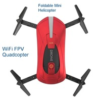 Selfie Drone Foldable Mini Helicopter Altitude Hold Headless WiFi FPV Quadcopter Folding RC Drones With High