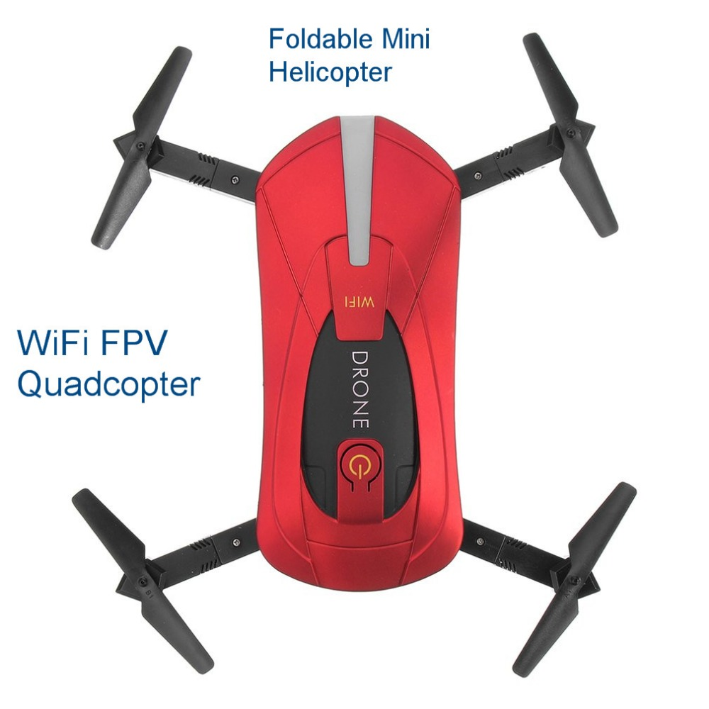 Selfie Drone Foldable Mini Helicopter Altitude Hold Headless WiFi FPV Quadcopter Folding RC Drones With High Definition Camera