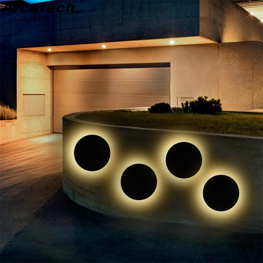 Wall Light Round Led Garden Lamp
