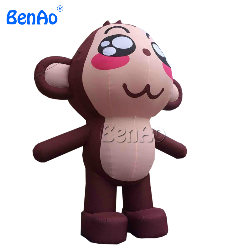 AC161 Free shipping 2m height giant inflatable Monkey cartoon character/inflatable animal for advertising/ party/event decoratio inflatable cartoon customized advertising giant christmas inflatable santa claus for christmas outdoor decoration